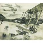 ROYAL AIRCRAFT FACTORY  B.E. 2e Cut Parts For Plan325